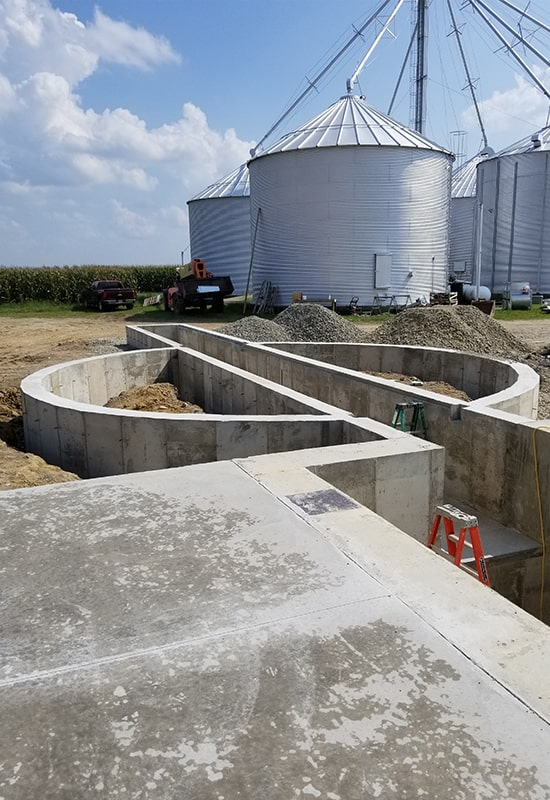 Grain Bin Construction Horizon Ag In Ohio